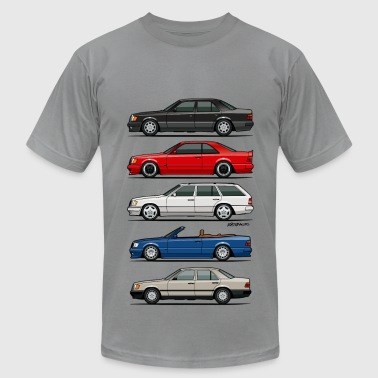 Stack of Mercedes W124 E-Class - Men's Fine Jersey T-Shirt