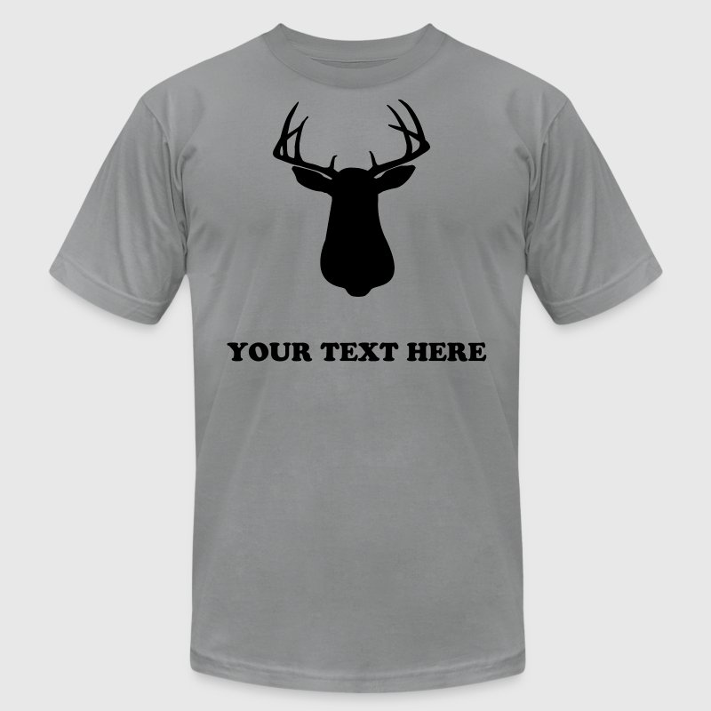 BUCK SILLOUETTE - TEMPLATE - Men's Fine Jersey T-Shirt