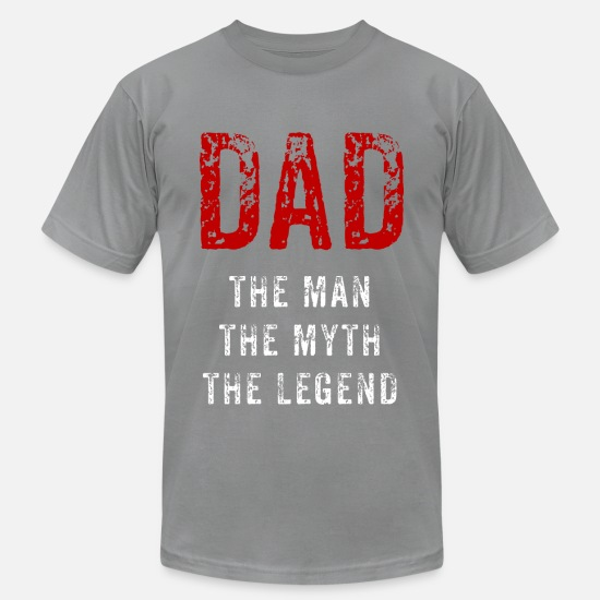 Day T-Shirts - Dad - the myth - Men's Jersey T-Shirt slate