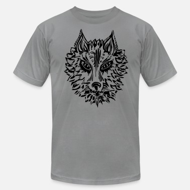 Strength Symbol Wolf, symbol of loyalty and strength, wildlife,  - Men's Jersey T-Shirt