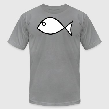 Fish As A Christian christian fish - Men's Fine Jersey T-Shirt