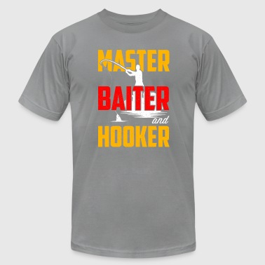 Crab Fishing Sport Master Baiter Hooker T-Shirt Gift for Fishing Fans - Men's Fine Jersey T-Shirt