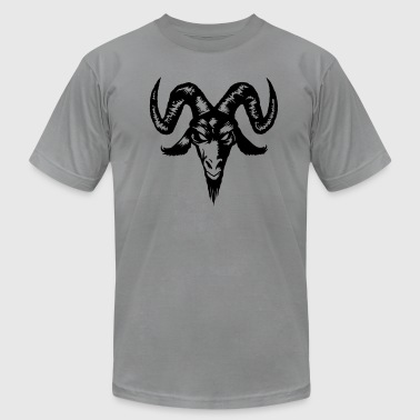 Lucifer Ram Goat Head - Men's Fine Jersey T-Shirt