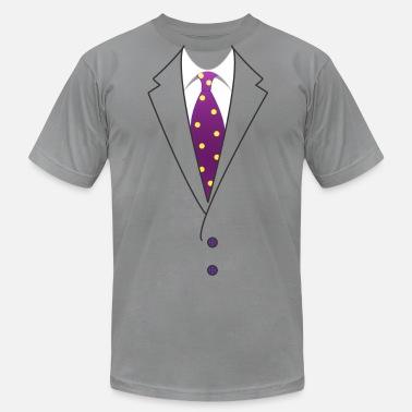 Fake Suit Suit & Tie - Men's  Jersey T-Shirt