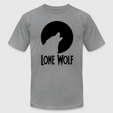 Lonely Wolf Lone Wolf - Men's Fine Jersey T-Shirt