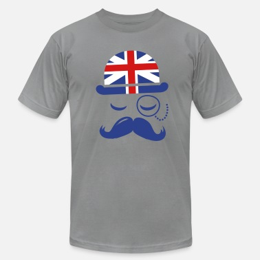 Monocle Vintage English Gentleman Sir Boss with Moustache - Men's  Jersey T-Shirt