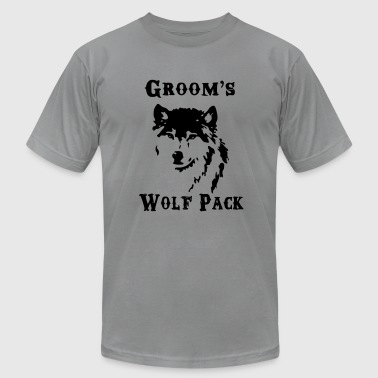 Groom's Wolf Pack - Men's Fine Jersey T-Shirt
