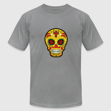Day Dead Mexican Sugar Skull Mexican Day of the Dead - Men's Fine Jersey T-Shirt