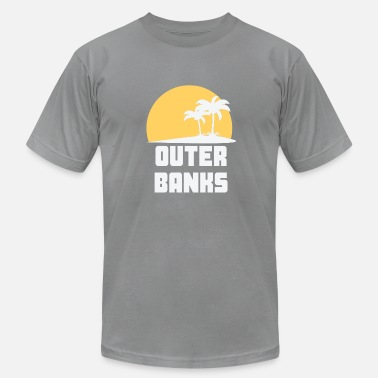 Outer Banks Outer Banks North Carolina Sunset Palm Trees - Men's  Jersey T-Shirt