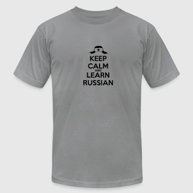 Russian Keep Calm keep calm and learn Russian black - Men's Fine Jersey T-Shirt