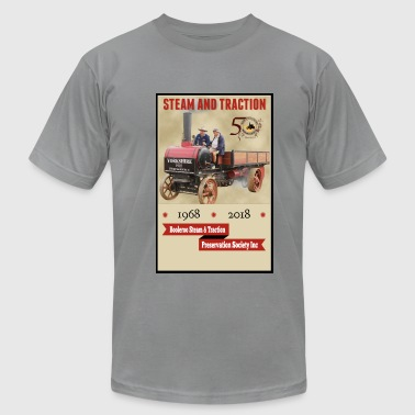 Traction Booleroo Steam & Traction - Men's Fine Jersey T-Shirt