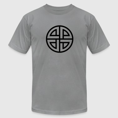 Celtic Shield Knot, Protection, Four Corner, Norse - Men's Fine Jersey T-Shirt