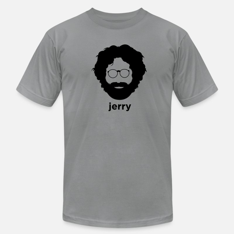 Grateful Dead T-Shirts - Jerry Garcia - Men's Jersey T-Shirt slate