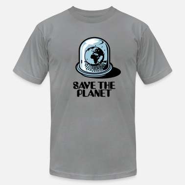 Globe Save The Planet World Snow Globe - Save the planet 3c - Men's  Jersey T-Shirt