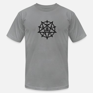 Pentagram Antichrist Pentagram + Satan's Cross No.1_1c - Men's  Jersey T-Shirt