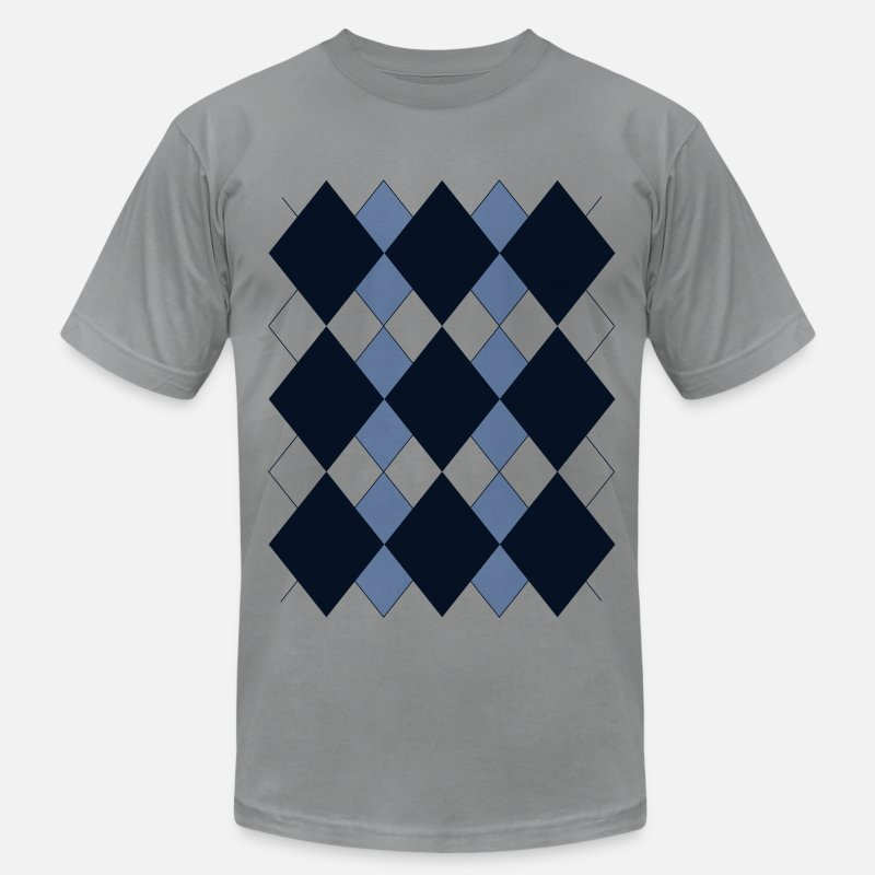 Golf T-Shirts - Argyle T-Shirt - Men's Jersey T-Shirt slate