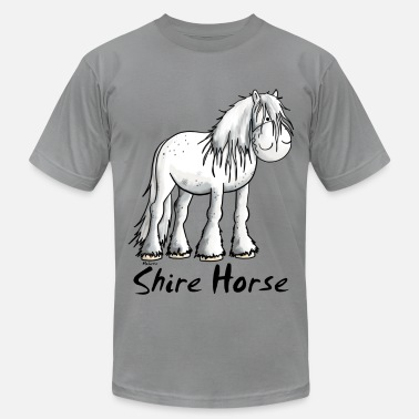 Shire Horses White Shire Horse - Men's  Jersey T-Shirt
