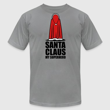 Christmas: Santa - the Super Hero - Men's Fine Jersey T-Shirt