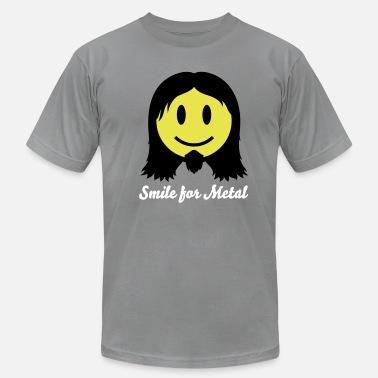 Nu Metal Metal Smiley Icon 2c - Men's Jersey T-Shirt