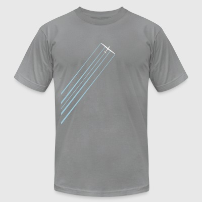 glider sailplane with water - Men's T-Shirt by American Apparel