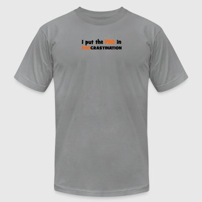 procrastination - Men's T-Shirt by American Apparel