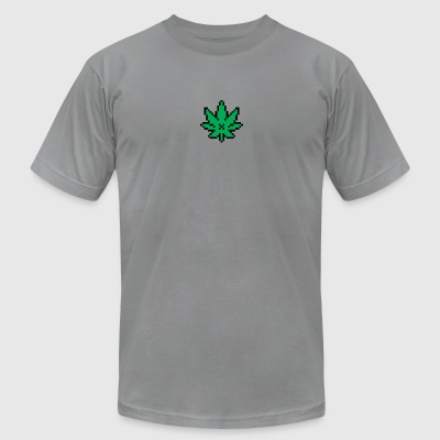 Pixel Weed - Men's T-Shirt by American Apparel