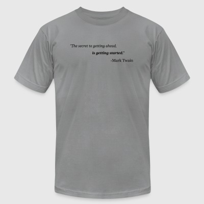 Advice with Mark Twain - Men's T-Shirt by American Apparel