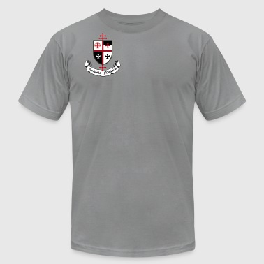 CHURCH MILITANT SHIELD AND BANNER - Men's T-Shirt by American Apparel