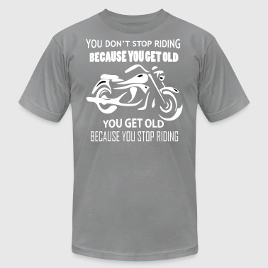 Funny Motorcycle T-Shirts - Men's T-Shirt by American Apparel