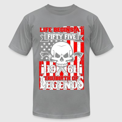 Life Begins At Fifty Five 1961 The Birth Of Legend - Men's T-Shirt by American Apparel