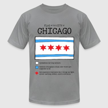 Chicago Flag Really - Men's Fine Jersey T-Shirt