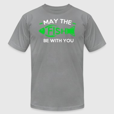 May the Fish be with you - Men's Fine Jersey T-Shirt