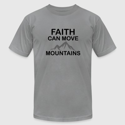 Faith - Men's T-Shirt by American Apparel