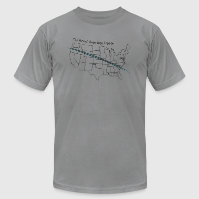 The Great American Eclipse Totality Map - Men's T-Shirt by American Apparel