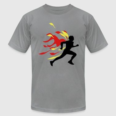 runner flames - Men's Fine Jersey T-Shirt