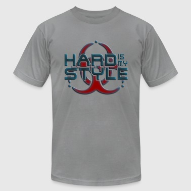 hard is my style - hardstyle pixel - Men's Fine Jersey T-Shirt