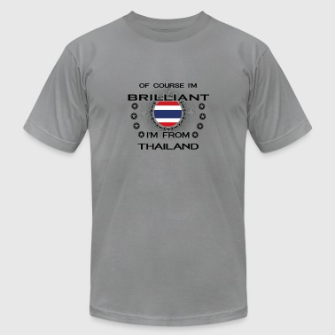 I AM GENIUS BRILLIANT CLEVER THAILAND - Men's T-Shirt by American Apparel