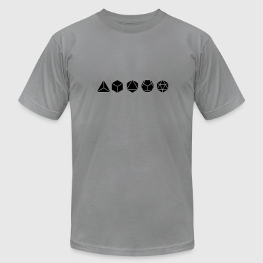 Platonic Solids, Sacred Geometry, Mathematics - Men's Fine Jersey T-Shirt