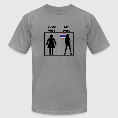 Thailand geschenk my your wife - Men's T-Shirt by American Apparel