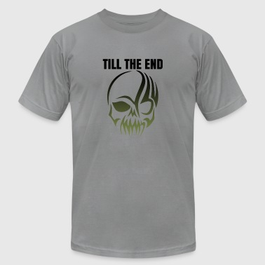 Till The End Tattoo Skull Gift - Men's T-Shirt by American Apparel
