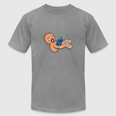 gingerbread man - Men's T-Shirt by American Apparel
