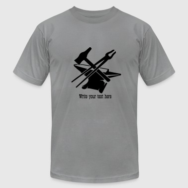Anvil with hammer and tongs - Men's Fine Jersey T-Shirt