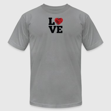 Love Horses - Men's T-Shirt by American Apparel