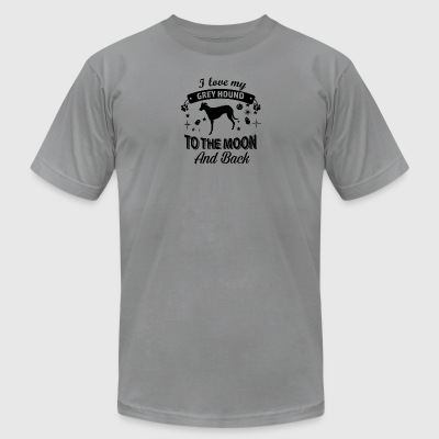 Love my Greyhound - Men's T-Shirt by American Apparel