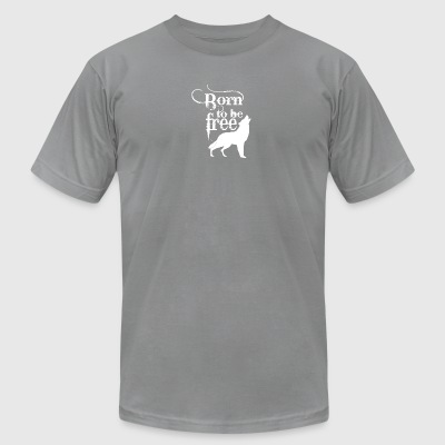 Lonely Wolf white - Men's T-Shirt by American Apparel