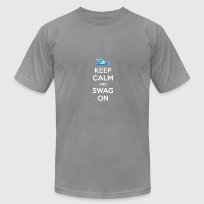 KEEP CALM AND SWAG ON - Men's T-Shirt by American Apparel