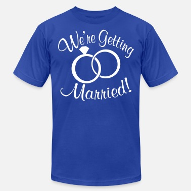 Married Couple Getting Married - Unisex Jersey T-Shirt