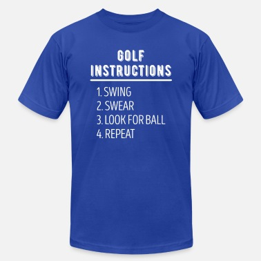 Golfer Golf Instructions Golfer T Shirt - Men's Jersey T-Shirt