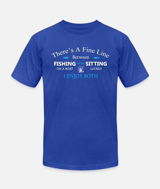 Hang Out T-Shirts - Fishing and sitting T Shirt - Unisex Jersey T-Shirt royal blue