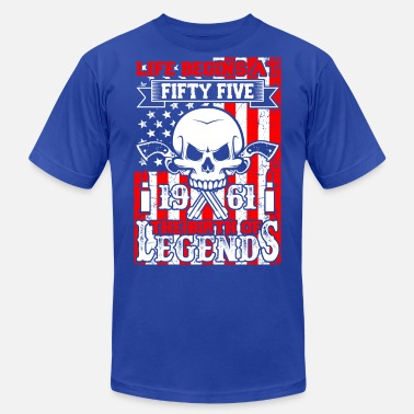 1961 The Birth Of Legends Life Begins At Fifty Five 1961 The Birth Of Legend - Men's  Jersey T-Shirt